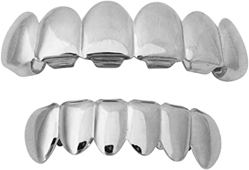 Suicide Squad Joker Jared Leto Silver Mouth Teeth Grillz Set w at-Home Mold Kit