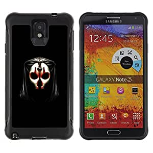 BullDog Case@ Skull Mask Face Anonymous Art Alien Human Rugged Hybrid Armor Slim Protection Case Cover Shell For Note 3 Case ,N9000 Leather Case ,Leather for Note 3 ,Case for Note 3 ,Note 3 case