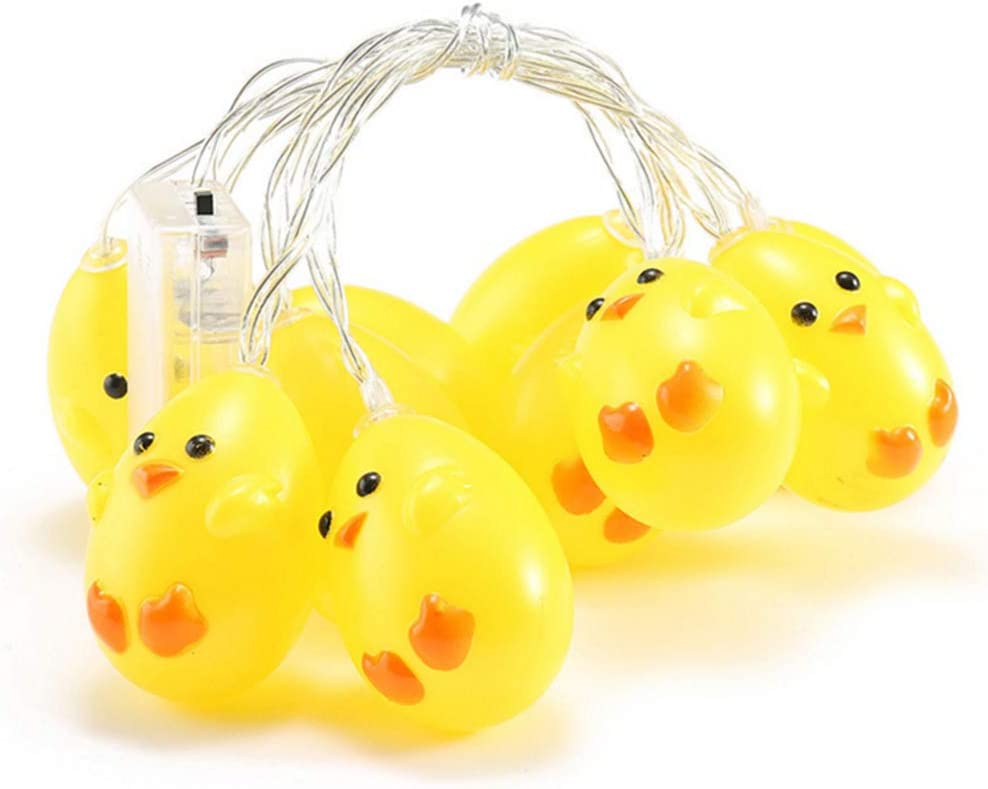 æ— Easter Egg LED String Lights,Easter Chicken Light,Artificial Chick Garland,Waterproof Battery Operated Lamp, Light Up Eggs,Home Party Garden Festival Backyard Easter Decor