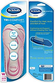 Dr. Scholl's Tri-Comfort Insoles - for Heel, Arch Support and Ball of Foot with Targeted Cushioning (for W