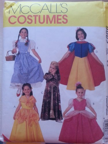 McCall's 8867 Girl's Classic Character Costumes Sizes 4,5 -