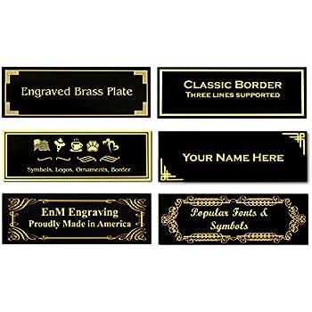 Amazon Com 0 875 Quot H X 2 5 Quot W Glossy Black Brass Plates