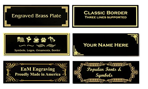 Custom Brass Plate - 3