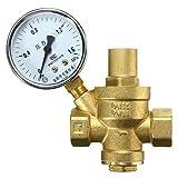 DN15 1/2inch Bspp Brass Water Pressure Reducing Valve With Gauge Flow Adjustable