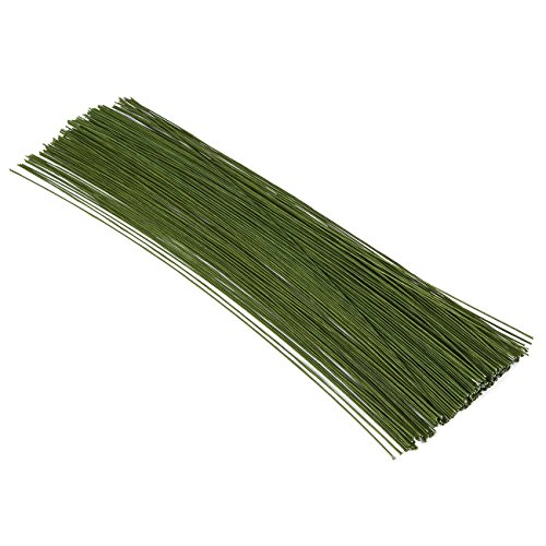 200-Pieces Floral Wire - Stem Wire - Florist Wire, 16 Inches in Length, 19 ga., Dark Green Bouquet 19 Stems