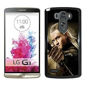 Popular Design LG G3 Case The Hobbit The Desolation of Smaug Legolas Black Best New Design LG G3 Cover Case