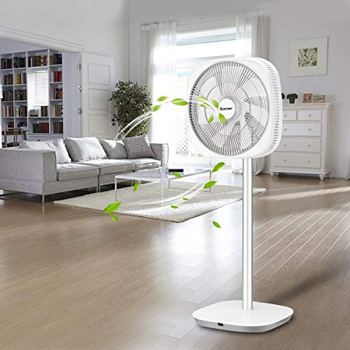 GraceShop White 12'' Stand Fan has Seven high-Performance Blades to Move a high Volume of air Wherever It's Needed.