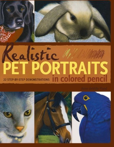 (Realistic Pet Portraits in Colored Pencil)