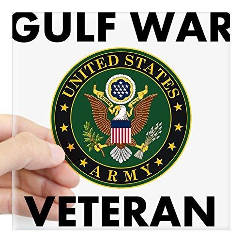 CafePress - Gulf War Veteran Sticker - Square Bumper Sticker Car Decal, 3
