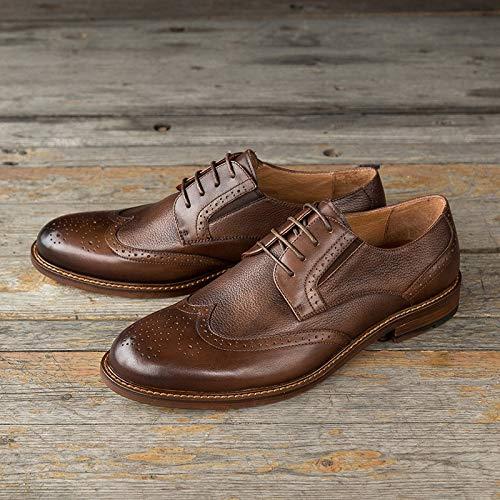 Color caviglia stringate Brown Red scarpe Stivaletti XZP alla 44 uomo Size vera casual in per pelle EU BCAHPqwx