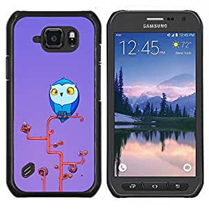 Caucho caso de Shell duro de la cubierta de accesorios de protección BY RAYDREAMMM - Samsung Galaxy S6Active Active G890A - Búho lindo