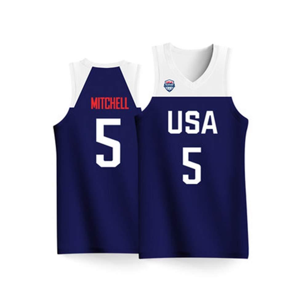 HSLIUQIUYI Donovan Mitchell World Cup USA Equipo No. 5 Jersey De ...