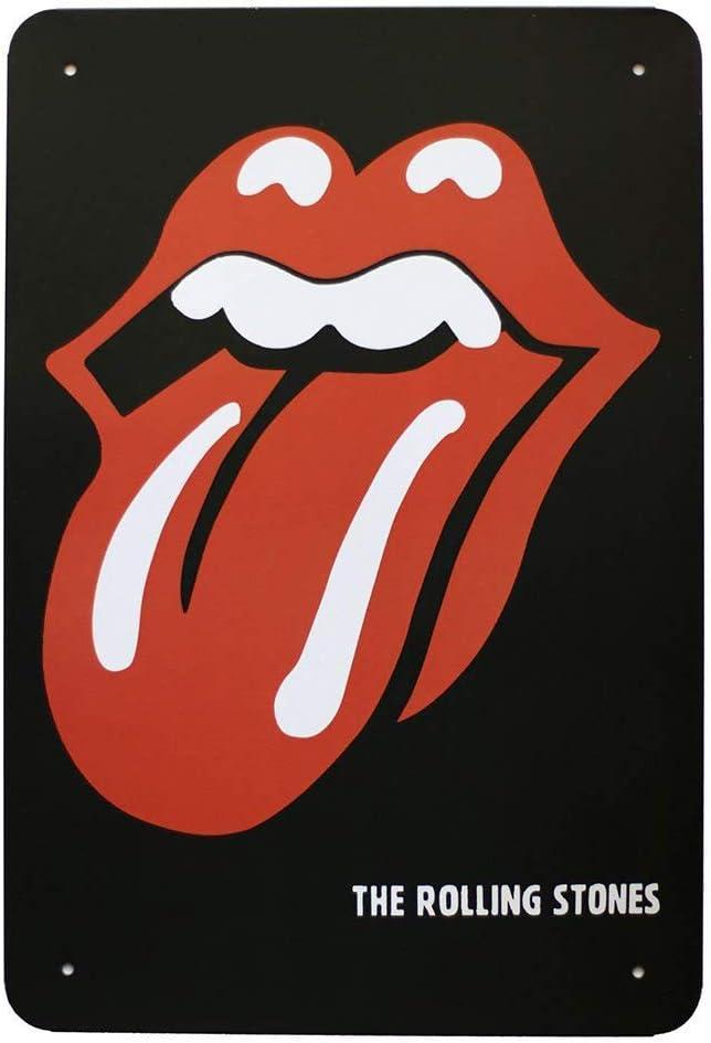 Vvision The Rolling Stones Tongue lart Fer Peinture Tin Mur Panneau Plaque en M/étal Mur d/écoration Affiche d/écor Cadeaux pour La Maison Garage caf/é Bar