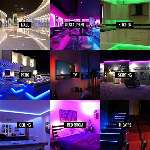 TBI Pro LED Strip Lights 32.8ft - Outdoor RGB Led Strip Lights with Waterproof Color Changing Super-Bright 5050 LED - Flexible Led Rope Lights for Bedroom Kitchen Living Room Bar Desk Home Decoration