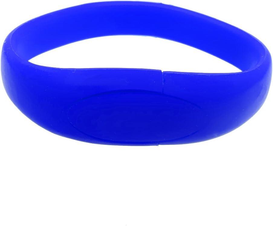 D DOLITY ブルー 16GB 高速 USB 2.0 フラッシュドライブ ガムサイズ - ブレスレット形状 メモリースティック サムドライブ - ポータブルデータストレージ ジャンプドライブ コンピューター用