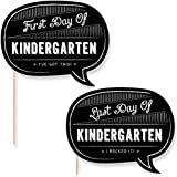 Kindergarten - First Day & Last Day of School Photo Props - Back To School - 2 Talk Bubbles