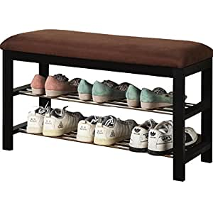 Amazon.com: Entryway Bench Organizer Shoe Storage Sitting ...