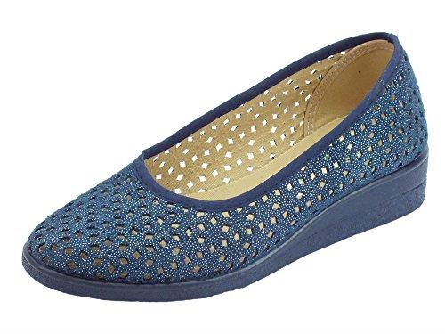Susimoda Women's Susimoda Ballet Women's Blue Flats 5YvUEw