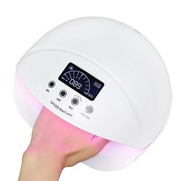 FAFY Secador De Uñas 50 W Lámpara UV Sensor Inteligente Boca De Pez Clavo De Luz ...