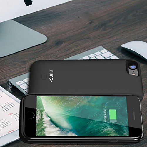 RUNSY iPhone 7 Battery predicament 5200mAh Rechargeable Extended Battery Charging predicament for iPhone 7 47 inch External Battery Charger predicament Backup electrica Bank predicament Black Battery Charger Cases
