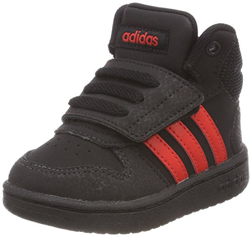 adidas Unisex Baby Vs Hoops Mid 2.0 Sneaker Schwarz (Core Black/Core Red/Core Black)