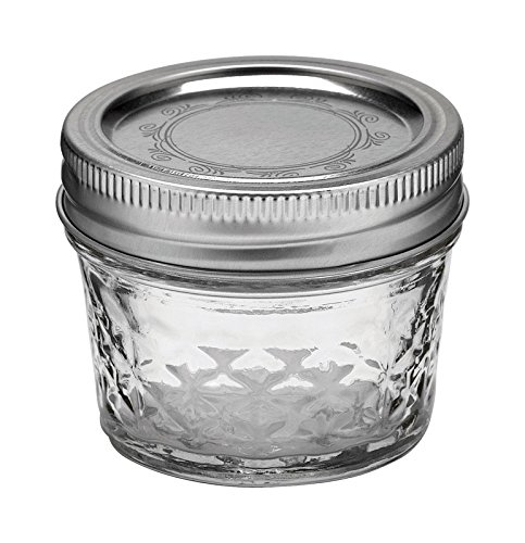 Ball Mason 4oz Quilted Jelly Jars with Lids and Bands, Set of 12