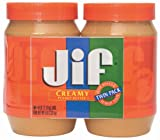 Jif Creamy Peanut Butter Twin Pack, 80 Ounce
