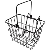 Wald 114 Compact Front Quick Release Bicycle Basket, 11.75 x 8 x 9, Black