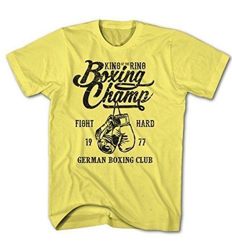 Monkey Print Camiseta Hombre Rey De Anillo Alemán Boxing Club Boxeo Fight Sport DpTxO6kL7L