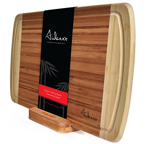 Bamboo Cutting Board Stand Hypoallergenic product image