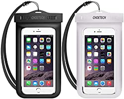 Universal Waterproof Case, CHOETECH 2 Pack Clear Transparent Cellphone Waterproof, Dustproof Dry Bag with Neck Strap...