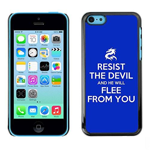 DREAMCASE Citation de Bible Coque de Protection Image Rigide Etui solide Housse T¨¦l¨¦phone Case Pour APPLE IPHONE 5C - RESIST THE DEVIL