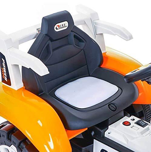 kidfun Escavatore Elettrico per Bambini 6V Arancione e Bianco