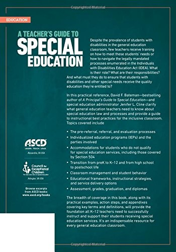 Special Education Best Practices And >> Amazon Com A Teacher S Guide To Special Education