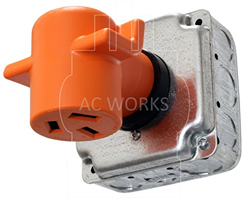 AC WORKS [WD14301050] 30Amp 4-Prong 14-30P Dryer Plug to 10-50R 50Amp 125/250V Welder adapter by AC WORKS (Image #5)