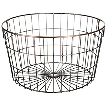 Amazon Com Stonebriar 2pc Round Stackable Metal Wire And
