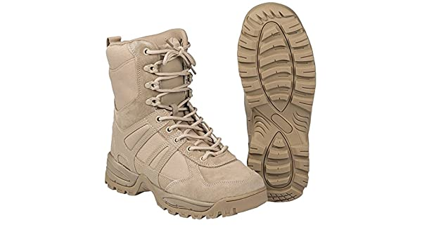 bfcc737bd54d7b Amazon.com: CamoOutdoor Security Police Army Combat Leather Boots  Generation II Mens Tactical Khaki Size 13: Sports & Outdoors