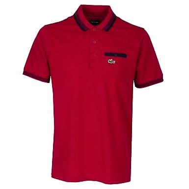 5ac65ed0 Lacoste Sport Highway Polo Shirt Red/Navy - 6: Amazon.co.uk: Clothing