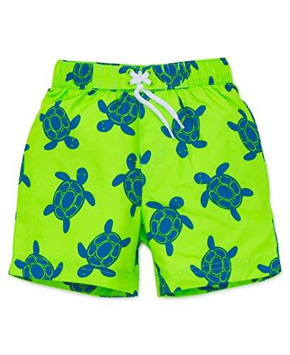 Infant Boy Swim Trunks (Little Me Baby Boys' Swim Trunks, Blue/Green, 24 Months)