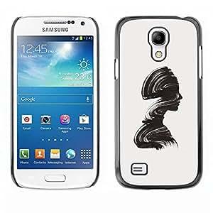 Paccase / SLIM PC / Aliminium Casa Carcasa Funda Case Cover - Minimalist Brush Relief Woman - Samsung Galaxy S4 Mini i9190 MINI VERSION!