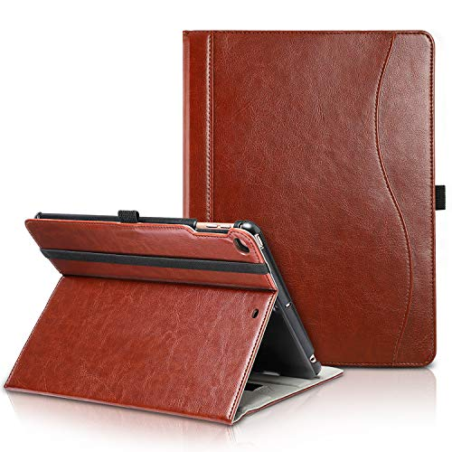 Leather Case Cover Case - TIRIN iPad 9.7 2018/2017 Case-Smart Stand Magnetic Premium Leather Case Cover Auto Wake & Sleep, Front Pocket Pen Holder iPad 9.7 Inch 2018/2017,iPad Air,iPad Air 2,Brown