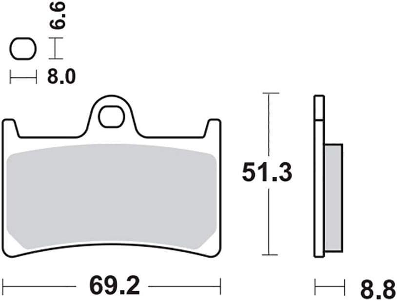 Bremsbelag Moto-Master RoadPRO Ceramic YZF-R6 RJ11 06-07 vorne