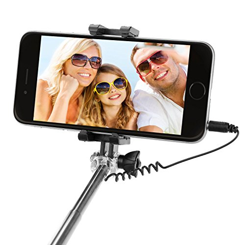 selfie stick dealgadgets extendable supreme mini all in one wire selfie stick for iphone 6. Black Bedroom Furniture Sets. Home Design Ideas