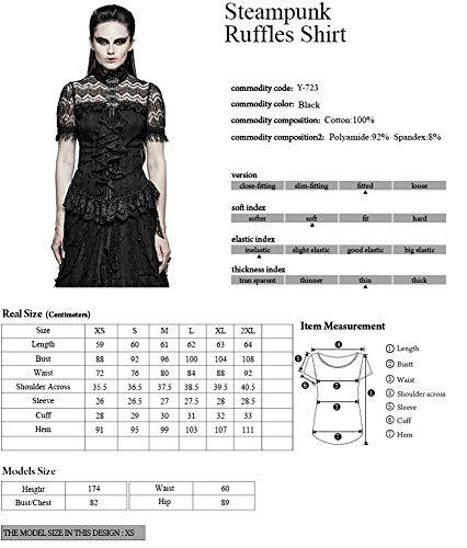 Devil Camicia Manica Corta Donna Shackles FFfB1p