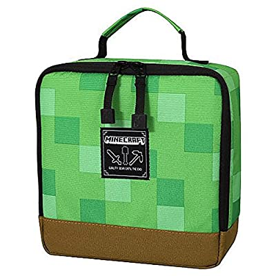 JINX Minecraft Creeper Block Insulated Kids School Lunch Box For Boys, Girls, Kids, Adult by JINX