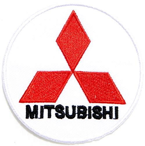 Mitsubishi Motor Automotive Truck Car Racing Logo Patch Sew Iron on Applique Embroidered T Shirt Jacket Sign Badge Emblem Costume