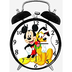 Quartz Mickey Mouse and Pluto Alarm Clock