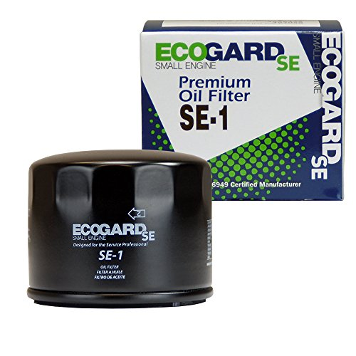 ECOGARD SE-1 Small Engine Oil Filter for Mowers, Tractors, Lawn Equipment, Other Small Gas Engines Including Briggs & Stratton and Kawasaki