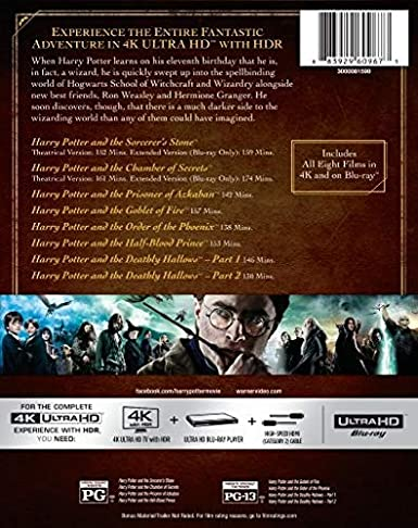 Harry Potter: Complete 8-Film Collection USA Blu-ray: Amazon.es: Cine y Series TV