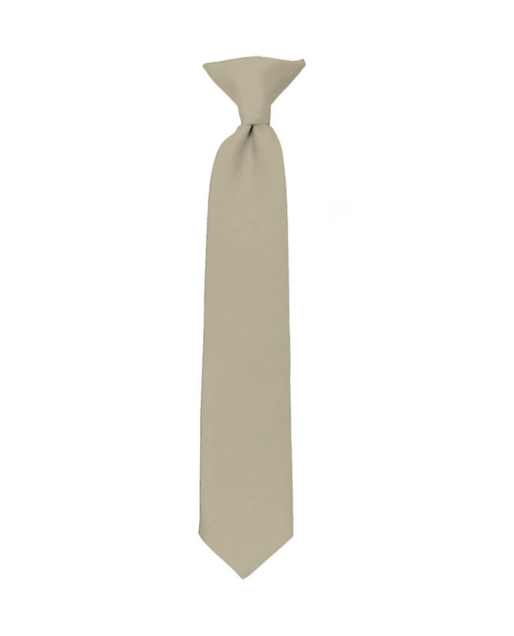 NYfashion101 Boys Solid Clip on Tie Hot Lime